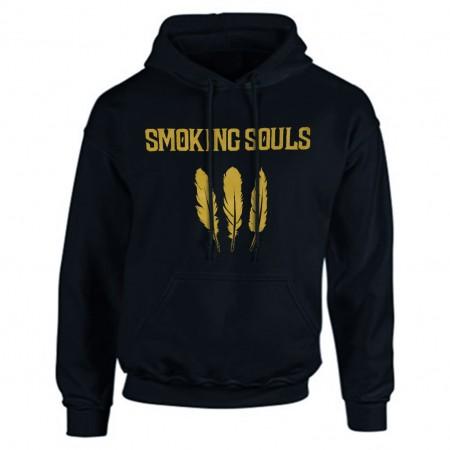 """Dessuadora SMOKING SOULS """"Cendra i or"""" blau marí"""