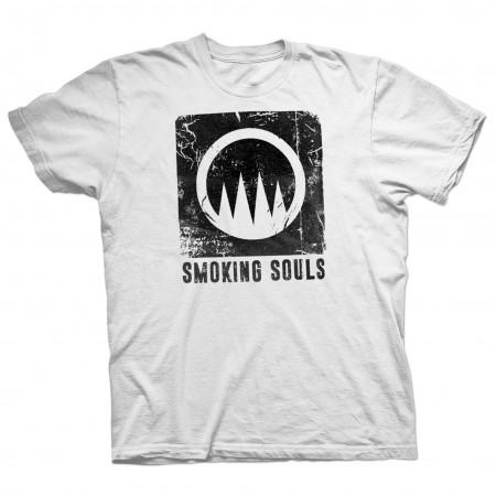 """Samarreta Unisex SMOKING SOULS """"Logo"""" blanca"""