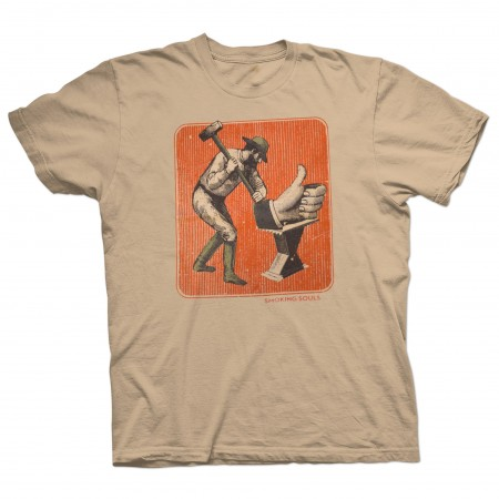 Camiseta Unisex SMOKING SOULS marrón