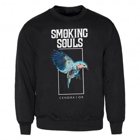 """Sudadera SMOKING SOULS """"Ocell"""" negra"""