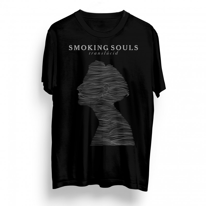 Samarreta unisex SMOKING SOULS Translúcid Negra