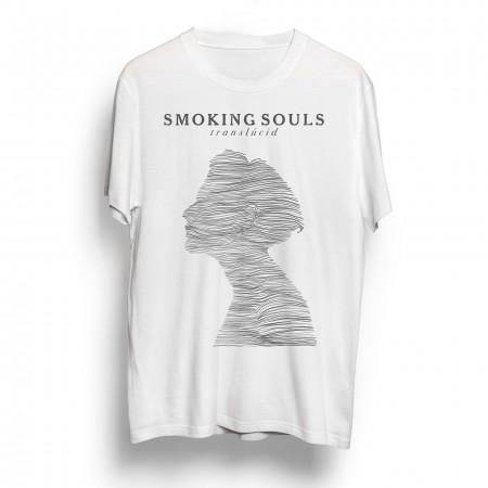 Samarreta unisex SMOKING SOULS Translúcid Blanca