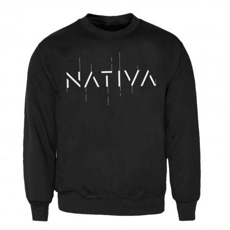 NATIVA - Dessuadora negra logo (sense caputxa)